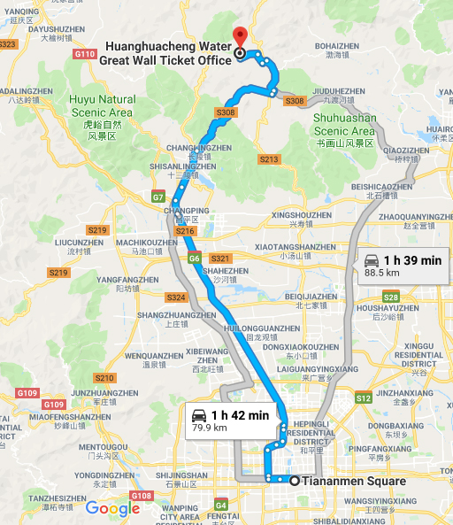 beijing licensed cab, taxi to mutianyu great wall of china, car service with english taxi driver, private day tour, day trip
